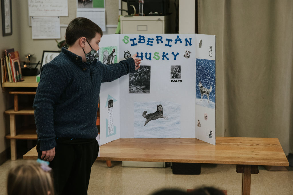 Student Presenting to Class