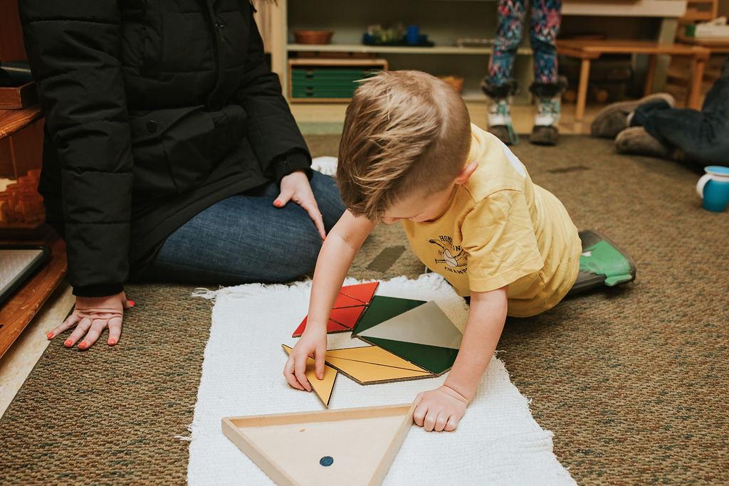 Preschooler Working