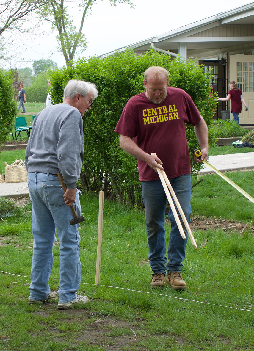Adults Volunteering on Big Clean Day