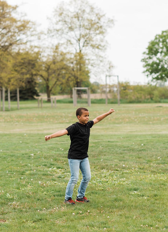 Kid Twirling on Sol Sun Field